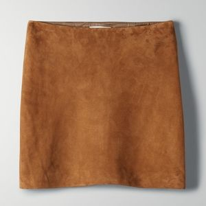 Camel Suede mini skirt